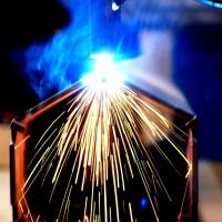 Laser welding workplace