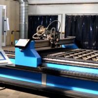 Plasma cutting centre type PZ-RPC 6020, controlled by a network control system