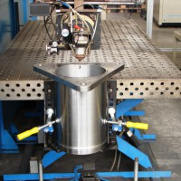 Laser welding of couplings for wind power plants