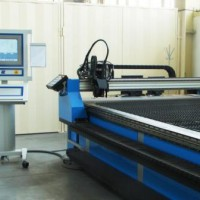Control centre of plasma cutting centre type PZ-RPC 6020, controlled by a network control system