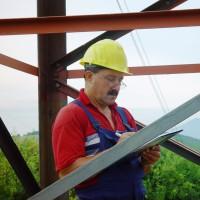 Measurement of damage range caused on a HV pylon